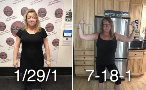 45 pounds… gone forever!